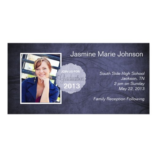 Tarjetas de la foto del marco de la foto de la gra tarjeta personal con foto