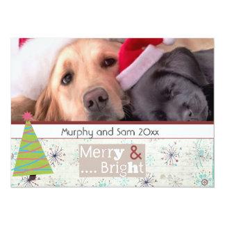 "tarjetas de la foto del mascota del navidad del invitación 5.5"" x 7.5"""