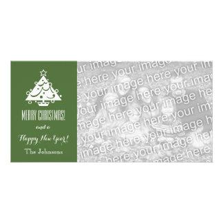 Tarjetas de la foto del navidad con el saludo de tarjeta personal