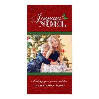 Tarjetas de la foto del navidad de Joyeux Noel Tarjetas Fotograficas