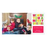 Tarjetas de la foto del navidad de la diversión de tarjetas fotográficas