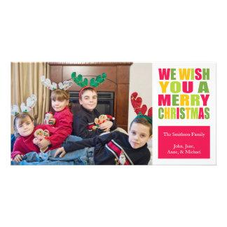 Tarjetas de la foto del navidad de la diversión de tarjeta personal con foto