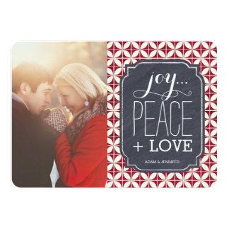 Tarjetas de la foto del navidad de la diversión invitación 12,7 x 17,8 cm