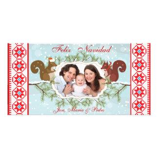 tarjetas de la foto del navidad del feliz tarjetas personales