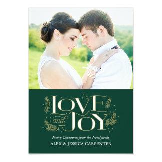 """Tarjetas de la foto del navidad del recién casado invitación 5"""" x 7"""""""