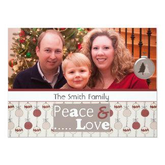 """tarjetas de la foto del navidad del saludo de la invitación 5.5"""" x 7.5"""""""