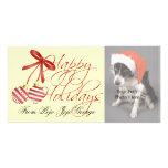 ¡Tarjetas de la foto del navidad para sus mascotas Tarjeta Fotografica Personalizada