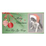 ¡Tarjetas de la foto del navidad para sus mascotas Tarjeta Personal Con Foto