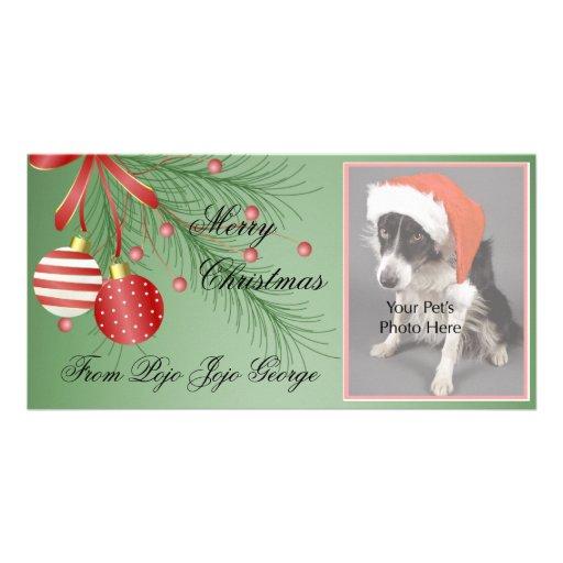 ¡Tarjetas de la foto del navidad para sus mascotas Tarjeta Fotografica