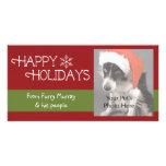 Tarjetas de la foto del navidad tarjeta con foto personalizada