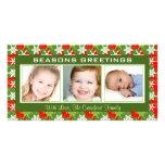Tarjetas de la foto del navidad tarjeta personal con foto