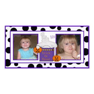 Tarjetas de la foto del truco o de la invitación tarjeta fotografica personalizada