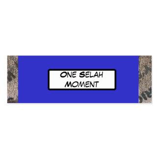 Tarjetas de la goma de Selah Tarjetas De Visita Mini