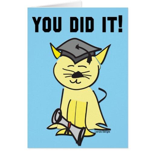 Tarjetas de la graduación