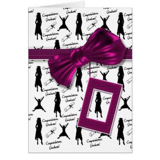 Tarjetas de la graduación para las mujeres -
