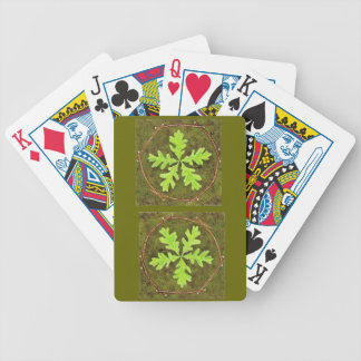 Tarjetas de la hoja del roble baraja cartas de poker