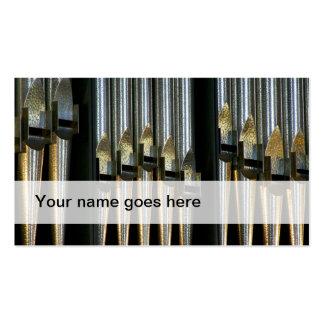 Tarjetas de la industria musical del órgano plantillas de tarjeta de negocio