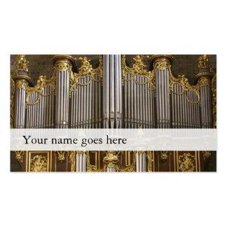 Tarjetas de la industria musical del órgano - tarjetas de visita