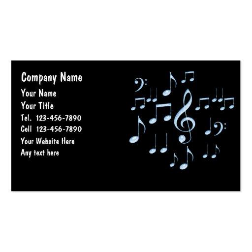 Tarjetas de la industria musical tarjetas de visita