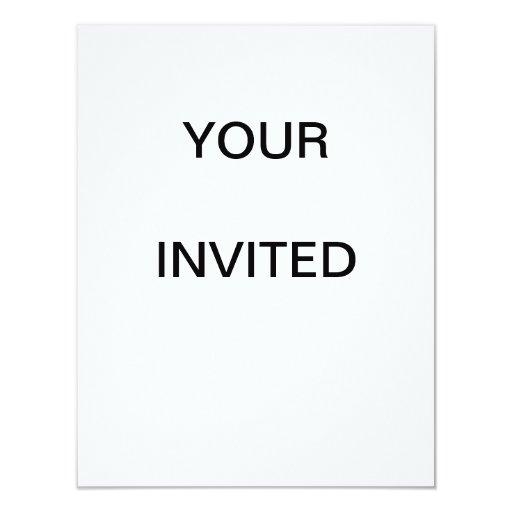 Tarjetas de la invitación