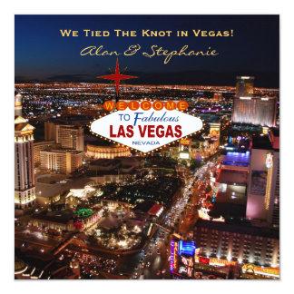 Tarjetas de la invitación de la boda de Las Vegas