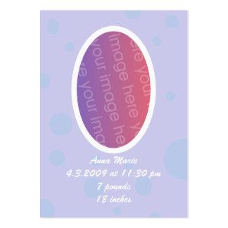 Tarjetas de la invitación de la foto del bebé de l plantilla de tarjeta personal