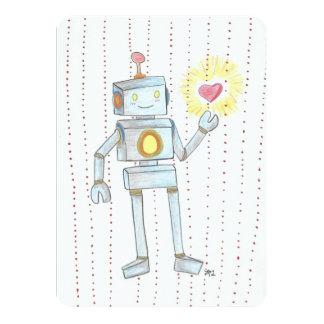 Tarjetas de la invitación del amor del robot de