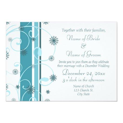 Tarjetas de la invitación del boda de diciembre