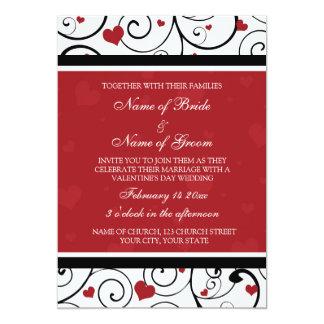 Tarjetas de la invitación del boda del el día de