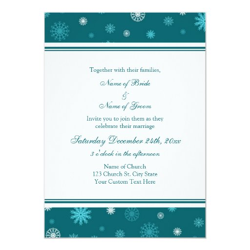 Tarjetas de la invitación del boda del invierno de
