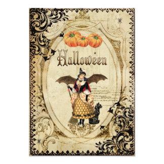 Tarjetas de la invitación del fiesta de Halloween