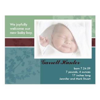 Tarjetas de la invitación del nacimiento - bebé tarjetas postales
