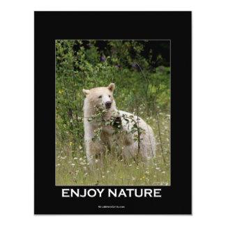 Tarjetas de la invitación del oso del alcohol invitación 10,8 x 13,9 cm