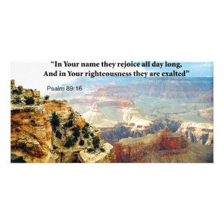 Tarjetas de la invitación del salmo 8-16 del verso tarjeta fotográfica