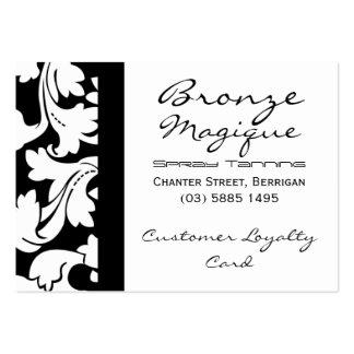 Tarjetas de la lealtad del cliente empresa tarjetas de visita