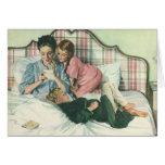 Tarjetas de la lectura de la madre del vintage en