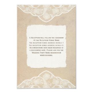 Tarjetas de la lona, del papel y del cordón del invitación 8,9 x 12,7 cm