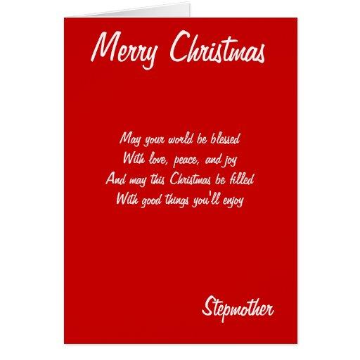Tarjetas de la madrastra de las Felices Navidad