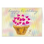 tarjetas de la magdalena del feliz cumpleaños