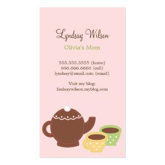 Tarjetas de la mamá de la fiesta del té tarjeta de visita