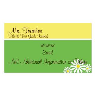 Tarjetas de la margarita - tarjetas de visita del