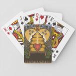 Tarjetas de la mina de la abeja baraja de cartas