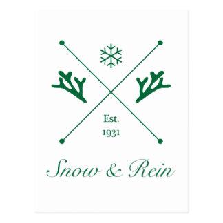 Tarjetas de la nieve y de la rienda - tienda del tarjeta postal