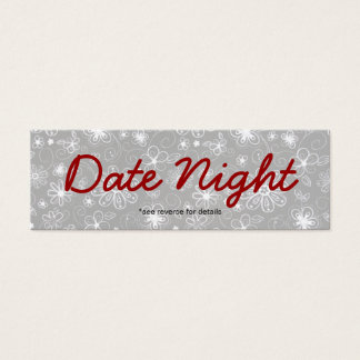 Tarjetas de la noche de la fecha