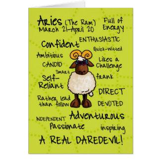 tarjetas de la palabra del zodiaco - aries