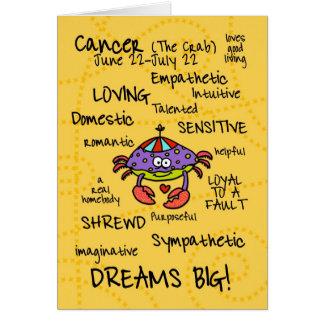 tarjetas de la palabra del zodiaco - cáncer