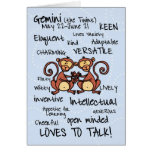 tarjetas de la palabra del zodiaco - géminis