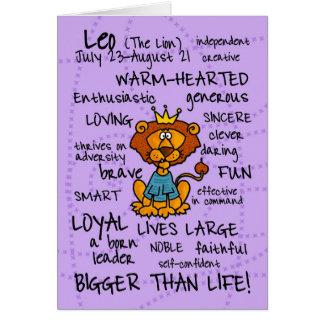 tarjetas de la palabra del zodiaco - leo