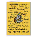 tarjetas de la palabra del zodiaco - sagitario