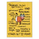 tarjetas de la palabra del zodiaco - tauro